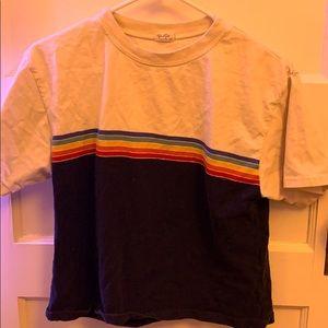 Brandy Melville Rainbow John Galt T-shirt